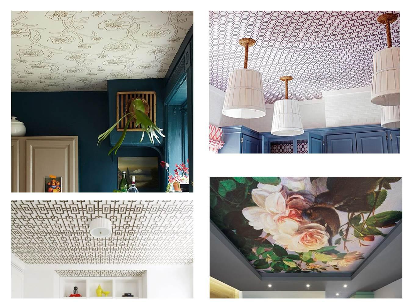 24 Ceiling Wallpaper Pattern Flowers Geometric Interiors Blog Restless Design