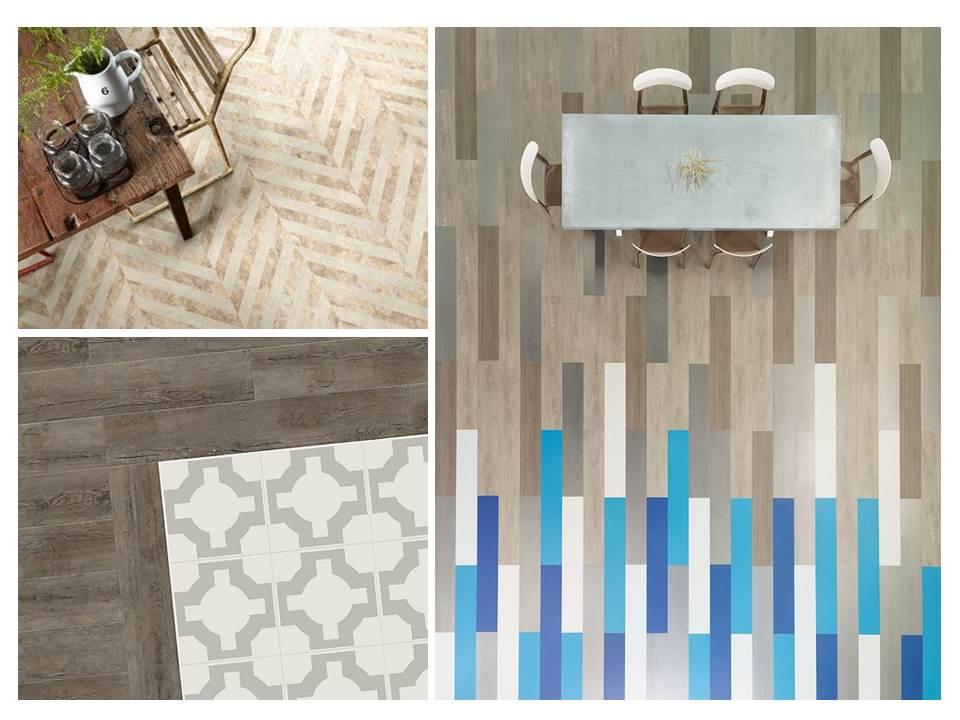 11. Vinyl-floor-tips-ideas-mix-match-blue-timber-tile-herringbone