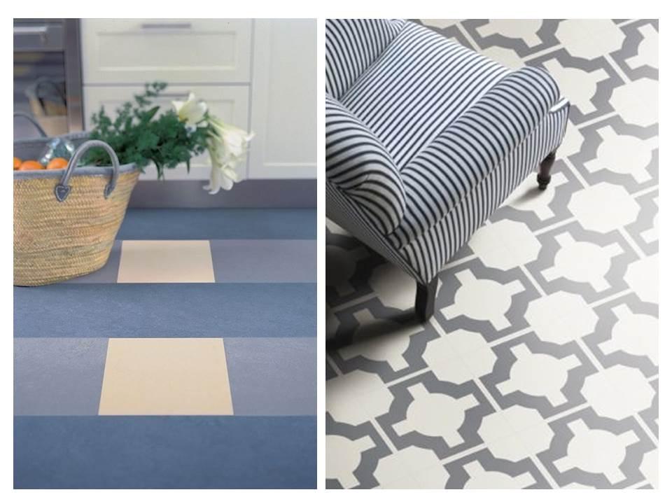 14. Vinyl-floor-tips-ideas-personality-purple-pattern