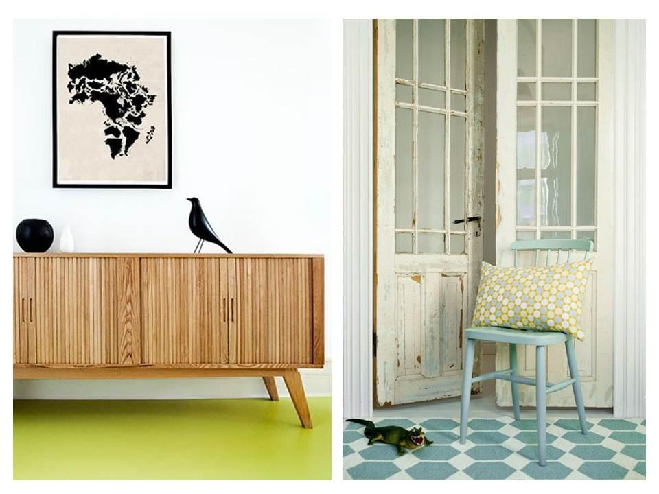 16. Vinyl-floor-tips-ideas-personality--green-blue-pattern-geometric
