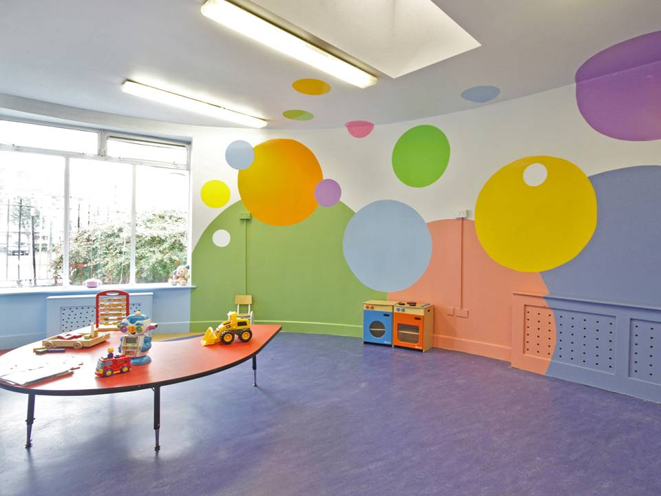 4 Circle Room creche Restless Design cool playroom colours in interiors colour blocking vibrant interior