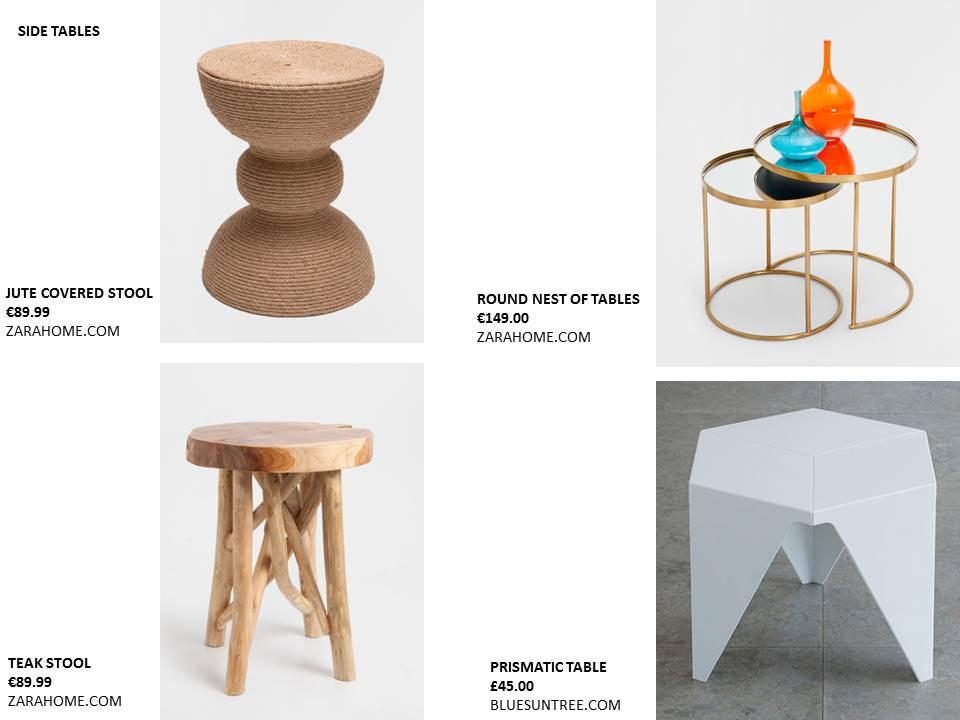 feature side table jute copper prismatic zara home bluesuntree restless design blog