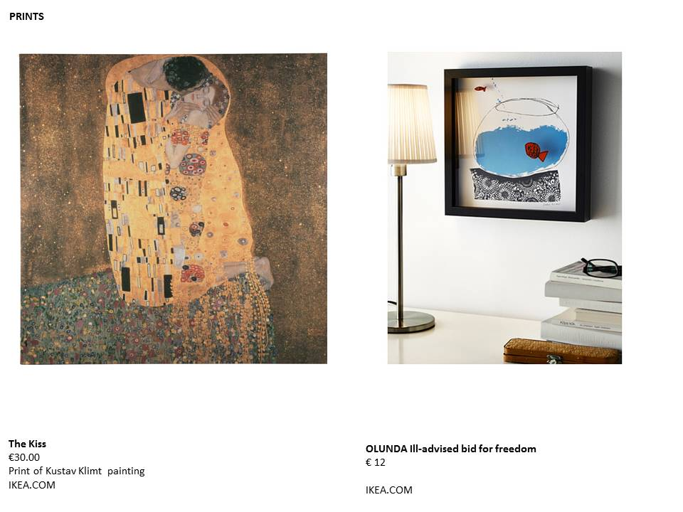 ikea prints the kiss gustav klimt restless design blog interiors
