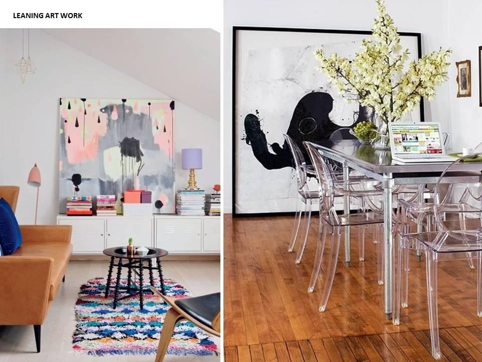 leaning art work interiors restless design blog
