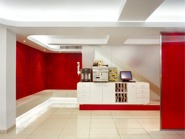 05-RESTLESS-DESIGN-PETER-MARK-MARY-STREET-COFFEE-STATION-RED-TEXTURED-SHAG-CARPET-WALL