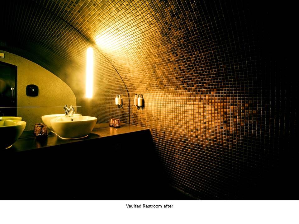 BRONZE COCKTAIL BAR NIGHT CLUB BAR DESIGN FEATURE BATHROOM DESIGN BRONZE MOSAIC